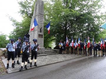ceremonie,hommage,monument,saint-jorioz,pierre lamy,resistant,guerre