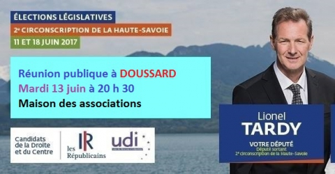 dousard,reunion publique,legislatives 2017,lionel tardy,fabienne duliège