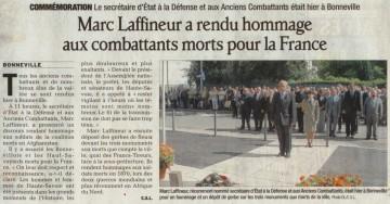 bonneville,presse,dauphine,ministre,laffineur,afn,guerre,anciens combattants,monument
