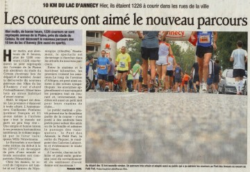 presse,dauphine,annecy,10km annecy,sport,course a pied,