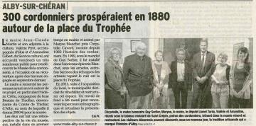 alby-sur-cheran,inauguration,musee,cordonnerie