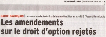frontaliers,droit d'option,amendement