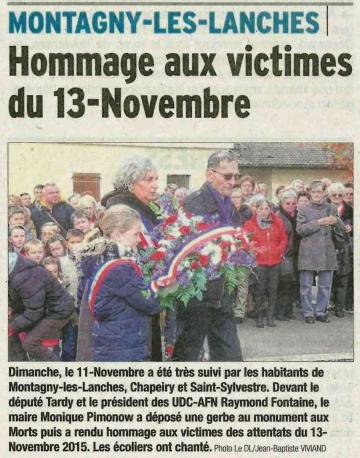 montagny-les-lanches,ceremonie,11 novembre,hauite-savoie
