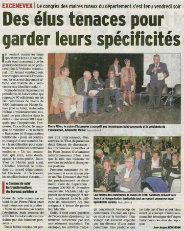 excevenex,maires,departement,congres,associations