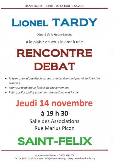 saint-felix,rencontre debat,lionel tardy,militants,public,ump 74,2ème circonscription