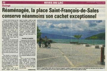 duingt,inauguration,place saint-francois
