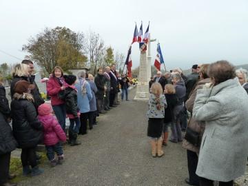 cahinaz-les-frasses,saint-sylvestre,ceremonie,armistice,1918,guerre,poilus