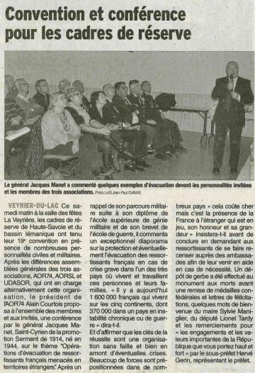 veyrier-du-lac,convention des cadres de reserve,haute-savoie