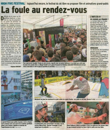 presse,dauphine,annecy,high five,festival