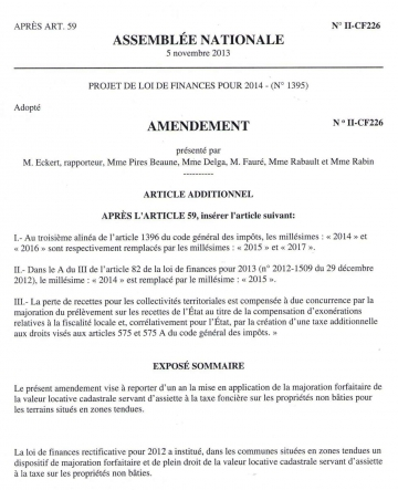 assemblee nationale,commission,agriculture,foncier,taxe,taxe fonciere