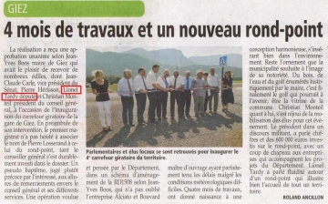 presse,dauphine,inauguration,carrefour,route,rd 1508,rond point,giratoire,conseil general
