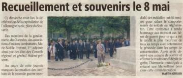ceremonie,8 mai,guerre,armistice,chevaline,lathuile,annecy,commemoration