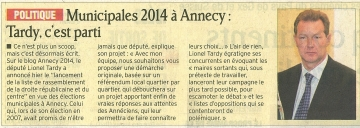 annecy,municipales,municipales 2014,mairie,rigaut,duperthuy,presse,dauphine,lionel tardy