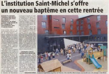 annecy,inauguration,lycee,saint-michel,auditorium,internat,ecole primaire