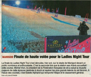 manigod,finale,ladies night tour,haute-savoie,ski
