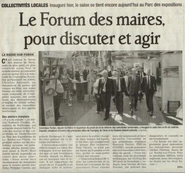 la roche-sur-foron,salon,forum,maire,collectivites
