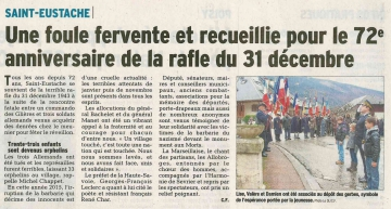 saint eustache,ceremonie,deportation,72 ans