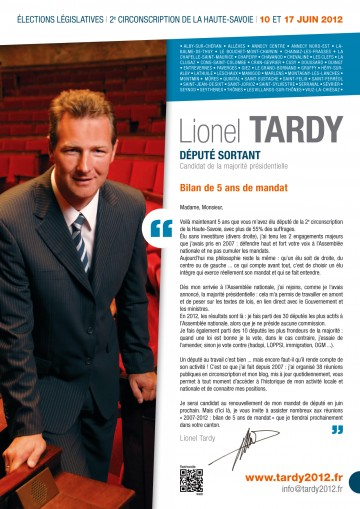 legislatives 2012,lionel tardy,tract,reunion publique