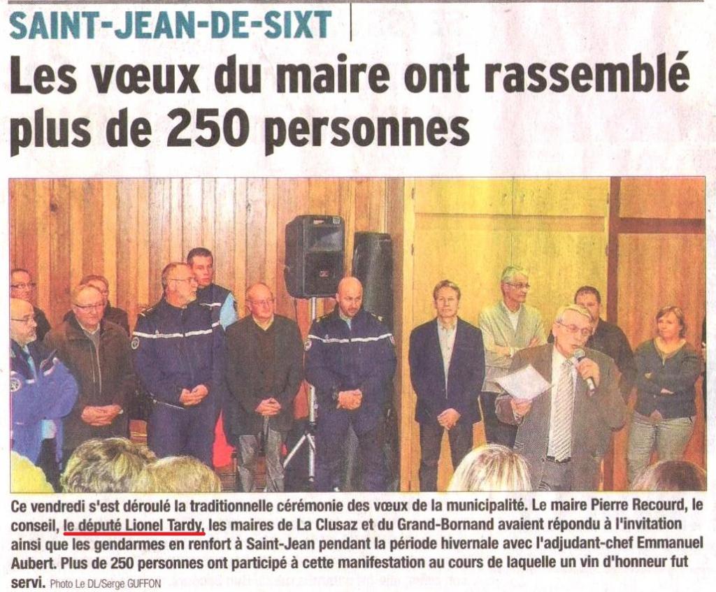 Saint Jean De Sixt C R Monie Des Voeux Lionel Tardy