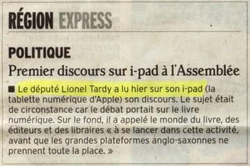 paris,assemblee nationale,i-pad,numerique,internet,lionel tardy,discours