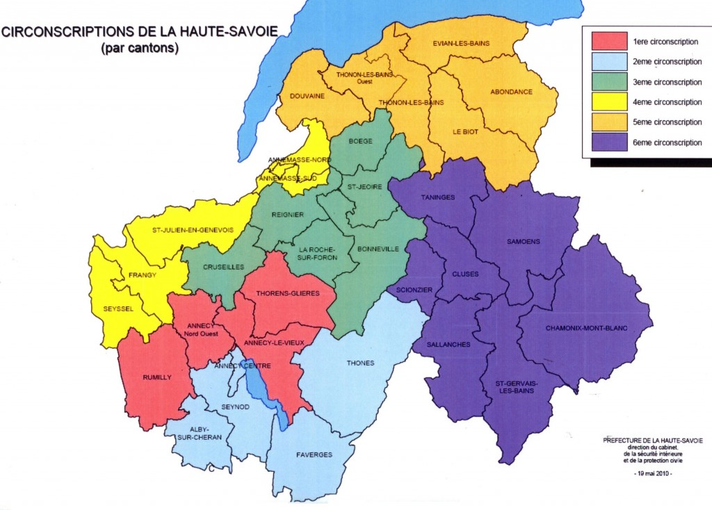Circonscription les r publicains 74 for Haute savoie carte