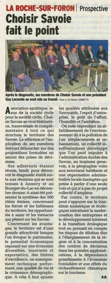 roche-sur-foron,reunion,synthese du diagnostic territorial,think tank,choisir savoie,entrepreneurs,regroupement,pays de savoie,haute-savoie