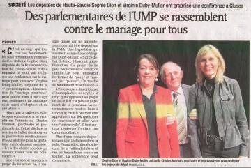 cluses,conference,mariage pour tous,dion,duby-muller,depute,6eme circonscription,4eme circonscription,reunion publique