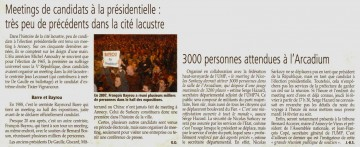 presse,dauphine,annecy,sarkozy,presidentielles 2012,meeting,reunion