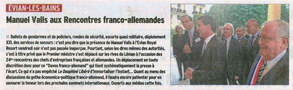 Rencontres franco allemandes evian 2012