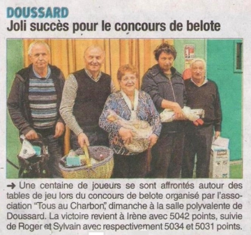doussard,concours,belote