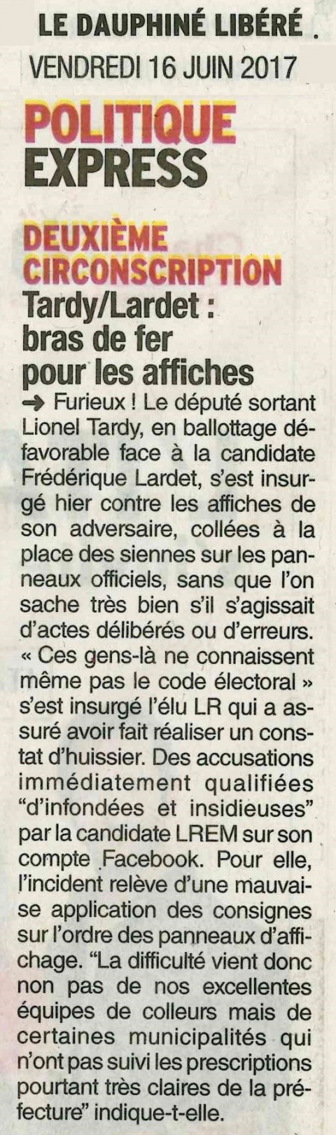 dauphine,tardy,lardet,presse,election,legislatives 2017