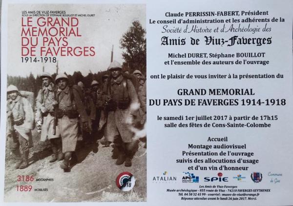 cons-sainte-colombe,faverges,doussard,livre,commemoration,guerre