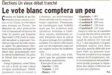 presse,dauphine,communique de presse,vote,vote blanc,municipales,europeennes,elections
