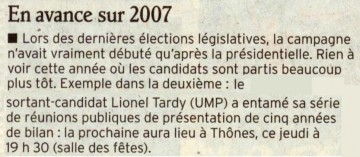 thones,reunion publique,legislatives 2012,bilan