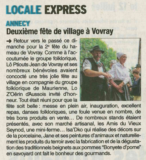 annecy,fete,vovray,dauphine,presse