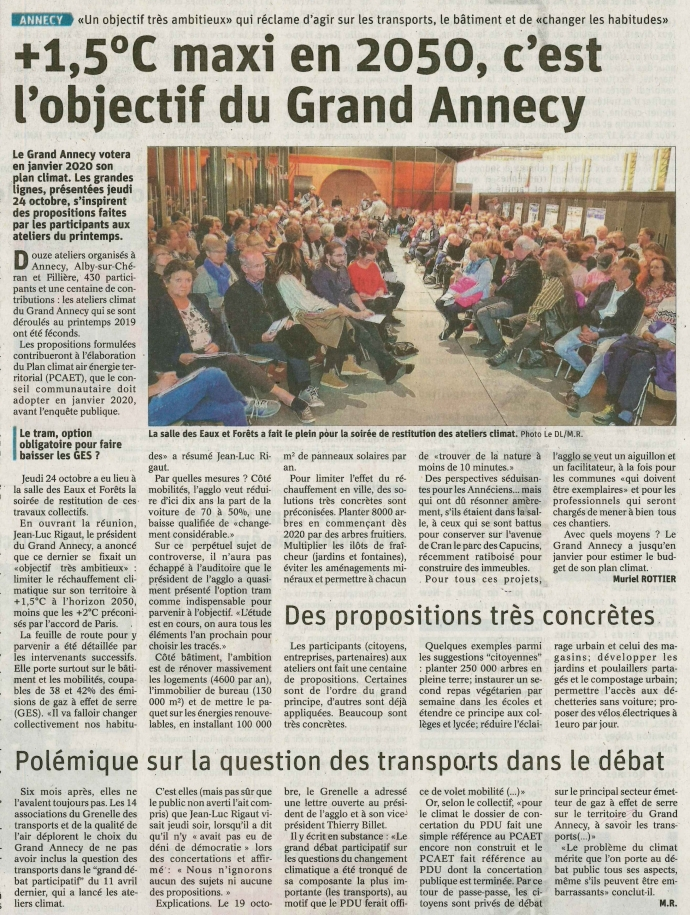 grand annecy,annecy,climat,restitution,atelier,presse,ledauphine libere