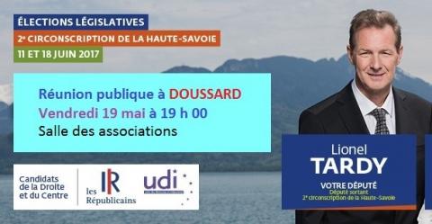 doussard,reunion publique,legislatives 2017,2eme circonscription,tardy,duliege,les republicains,haute-savoie
