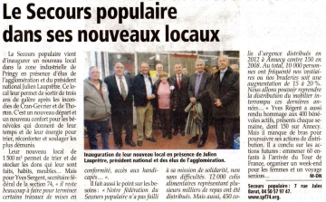 presse,dauphine,pringy,inauguration,secours populaire
