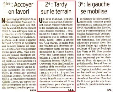 haute-savoie,legislatives 2012,election,depute,lionel tardy