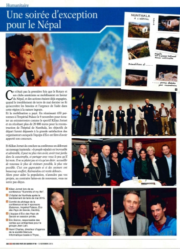 annecy,kilian jornet,conference,imperial palace,rotary club,presse,dauphine