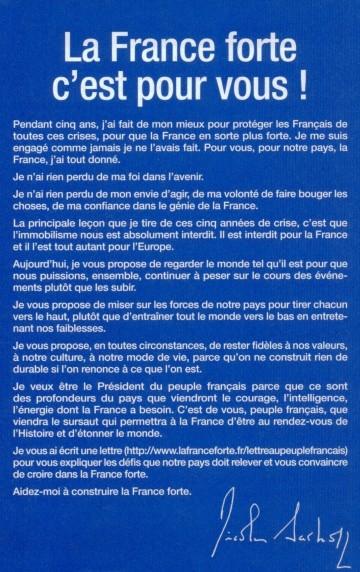 presidentielle 2012,sarkozy,france forte,propositions