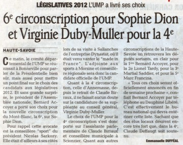 bonneville,comite departemental,ump,legislatives 2012