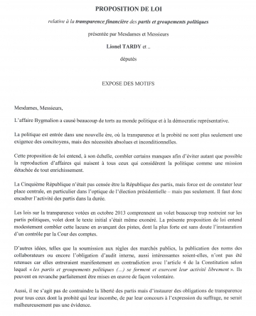 loi,parti,ump,finance,bygmalion,transparence