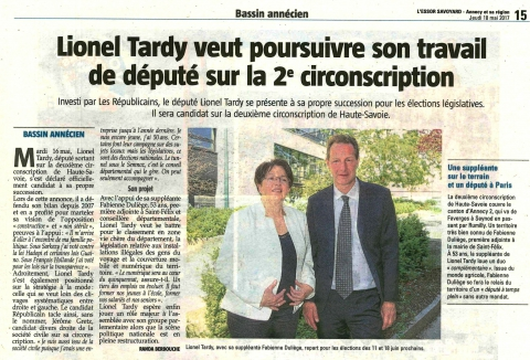 tardy,duliege,annecy,interview,presse,legislatives 2017,dauphine,prese,essor