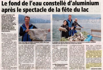 annecy,lac,fete du lac,pollution