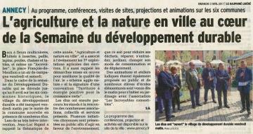 annecy,inauguration,village,developpement durable,haute-savoie
