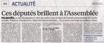 presse,classement,depute,le parisien,amendement,ump