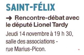 saint-felix,rencontre,debat,lionel tardy,militants,public,ump 74,2ème circonscription,ump