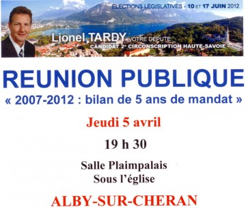 presse,dauphine,reunion publique,lionel tardy,legislatives 2012,campagne,elections législatives