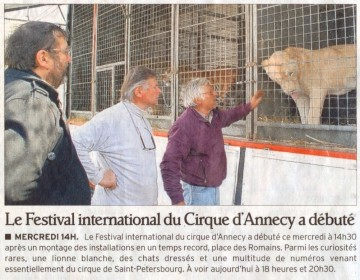 presse,annecy,cirque,festival,animation